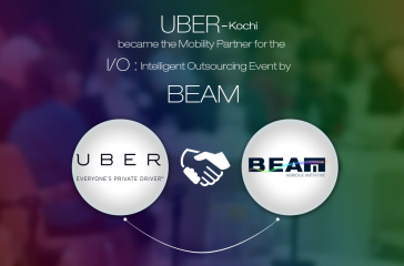 UBER, Kochi became the Mobility Partner for the I/O: Intelligent Outsourcing Event by BEAM