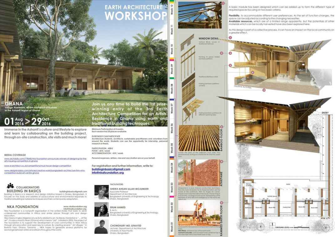 Ghana: Construction of the 1st prize winning design in 3rd Earth Architecture Competition