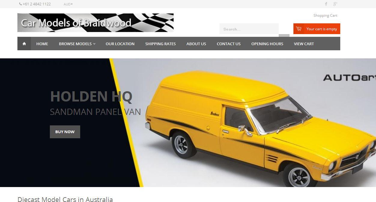 Car Models of Braidwood Has Updated their Website and Getting New Model Cars