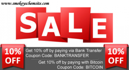Smokeys Chem Site Announces 20% Discount for Online Bitcoin Purchases