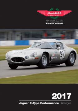 Denis Welch Motorsport launches new 2017 Jaguar E-Type Performance Parts Catalogue