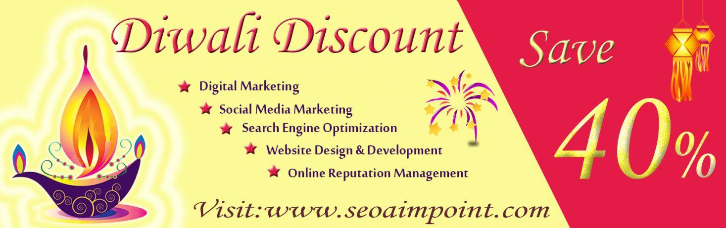 SEO AIM POINT Offers 40% Discount on its SEO Services This Diwali