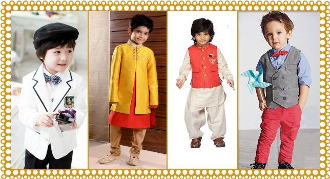 Baby Boy Wedding Outfits and Dresses Collection | Pink Blue India