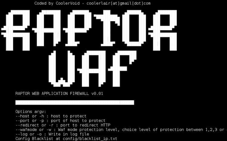 Raptor waf – un firewall gratis de aplicaciones web
