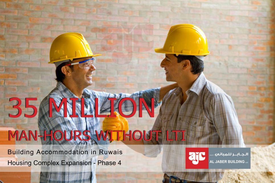Al Jaber Building achieves 35 million man-hours without LTI