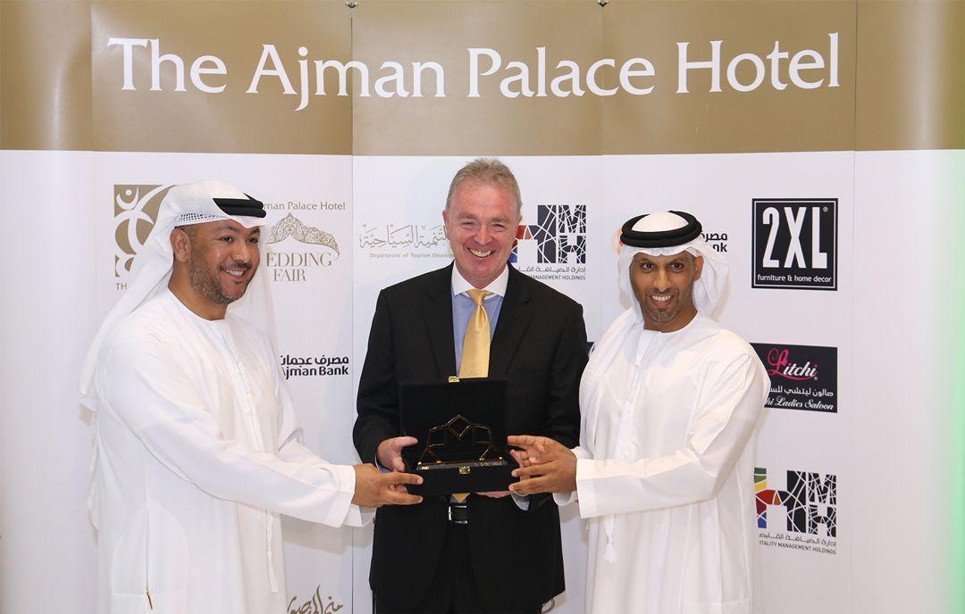 H.E. Sheikh Mohammed bin Faisal Al Qassimi & Mr. Faisal Al Nuaimi from The Ajman Tourism