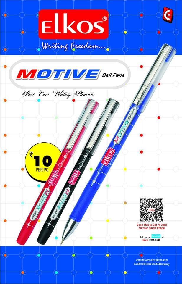 Elkos launches new ball pen – Motive