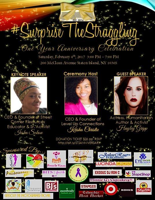 Local Human Services Organization #SurpriseTheStruggling Inc. Celebrates Its 1st Anniversary