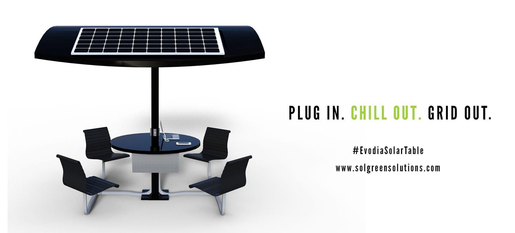 SolGreen® Unveils Breakthrough Technology, the commercially manufactured Evodia Solar Table