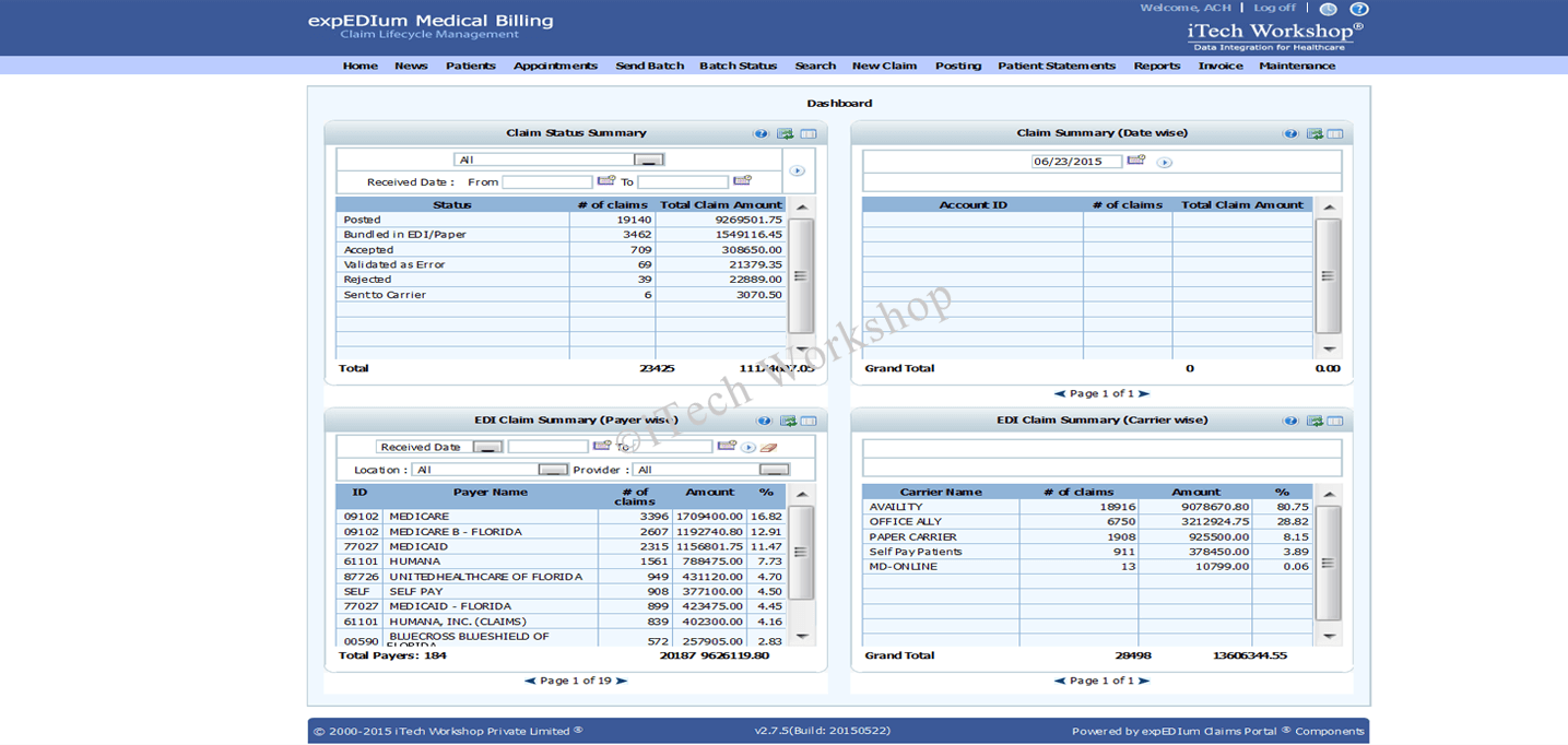 iTech announces NEMSIS support in expEDIum EMS & Ambulance Billing Software