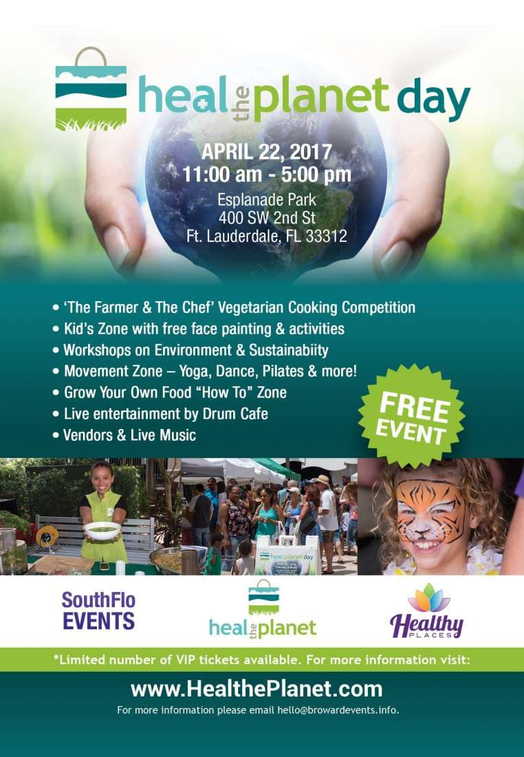 Make Plans NOW to attend Fort Lauderdale's ONLY Heal The Planet Day