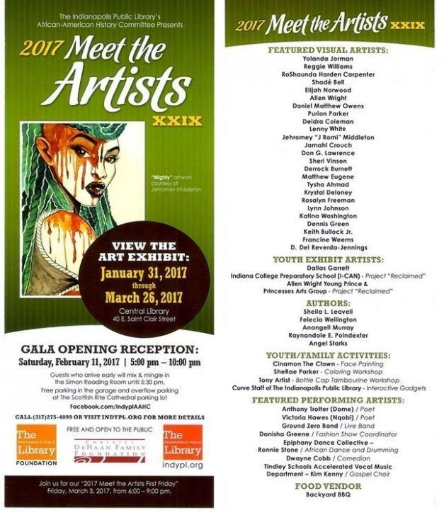 MEET THE ARTISTS' 29th Annual Exhibition and Gala @ Central Indianapolis Public Library: