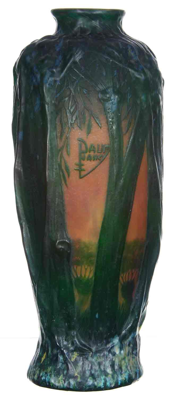 "Galle and Daum Nancy ""bat"" vases, brides baskets, Weller, Roseville, more at Woody Auction, March 18"