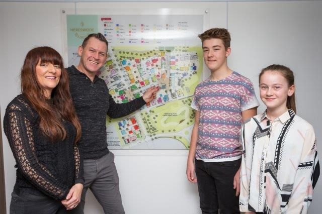 First purchasers for Davidsons Homes at New Lubbesthorpe in Leicestershire