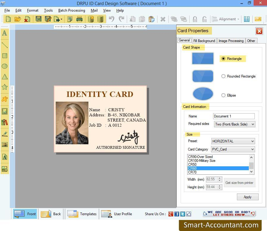 Smart-Accountant.com releases ID Card Designer Software with barcode technology to make ID cards