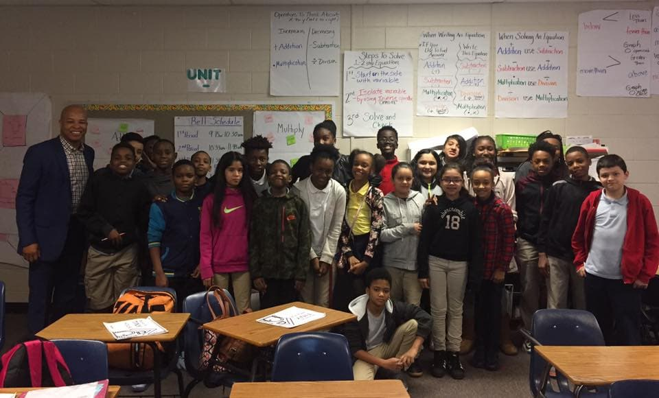 """Greater South Cobb Kiwanis President Served as """"Teacher for a Day"""""""
