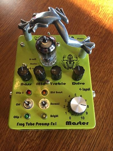 """New """"Frog"""" Vacuum Tube Preamplifier for Guitar and Bass debuts at Kansas City Folk Festival Feb 19th"""