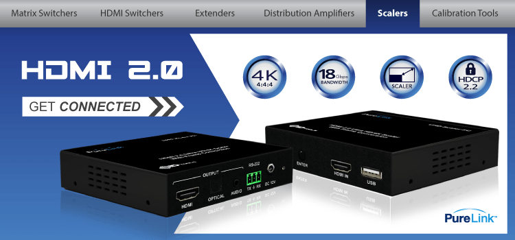 PureLink Adds UHD Up/Down Scaler to its HDMI 2.0 Product Offerings