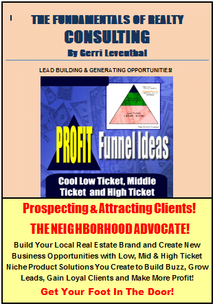 Announcing Popular Author Realtor Gerri Leventhal's New Book The Fundamentals of Realty Consulting