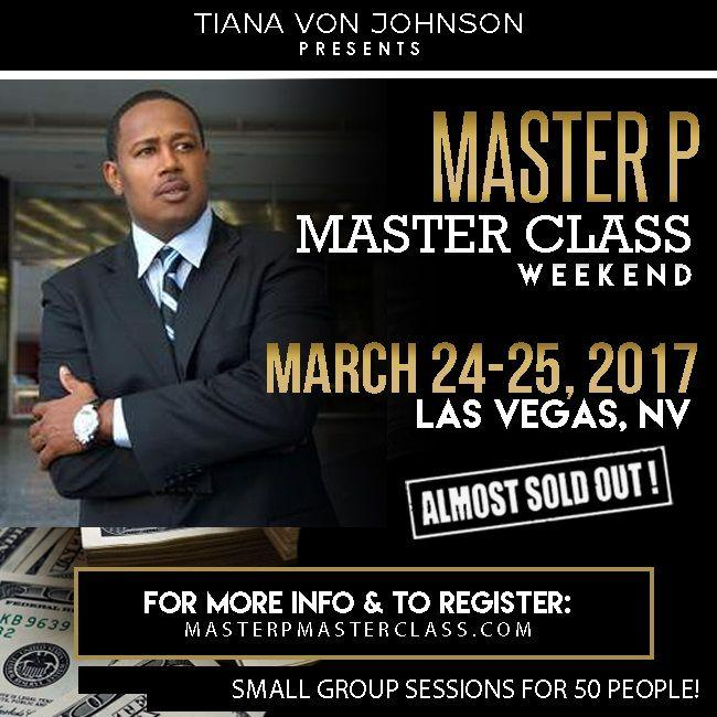 Percy Miller aka Master P, to hold a master class in Las Vegas to train entrepreneurs