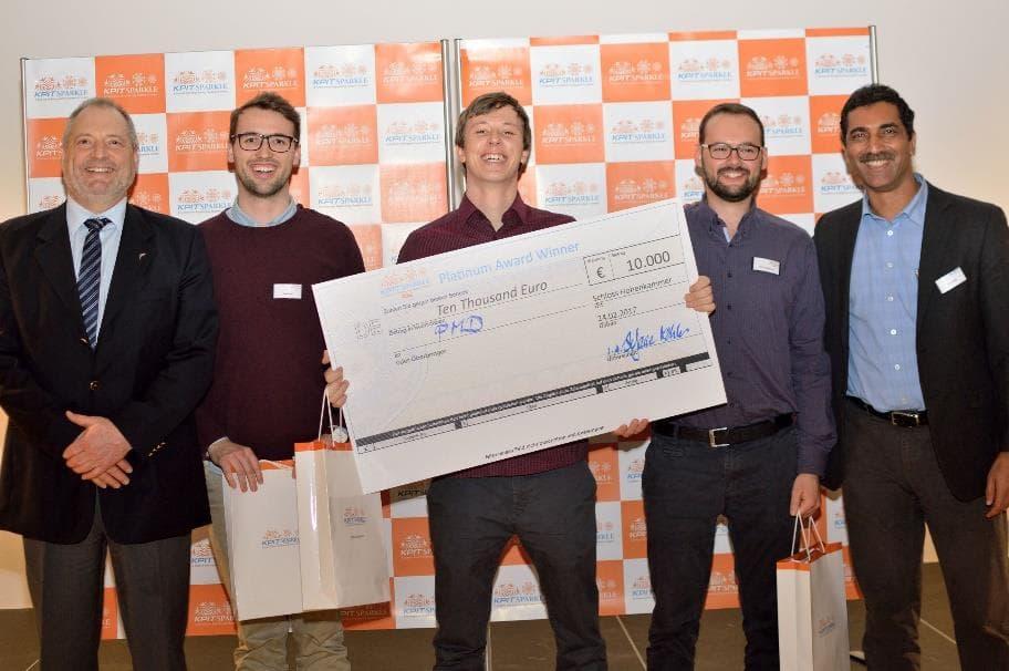 "Start-up UrbO from Munich University of Applied Sciences wins ""KPIT Sparkle Platinum Award"""