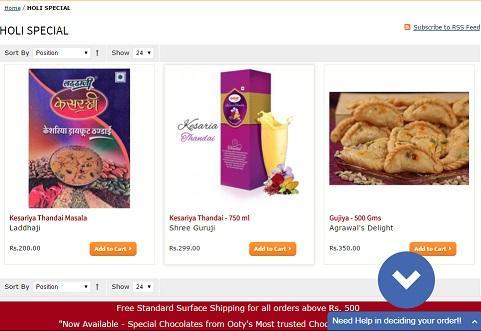Holi 2017 Special Festival online Discount Coupon from KHAOCHATPATA.COM