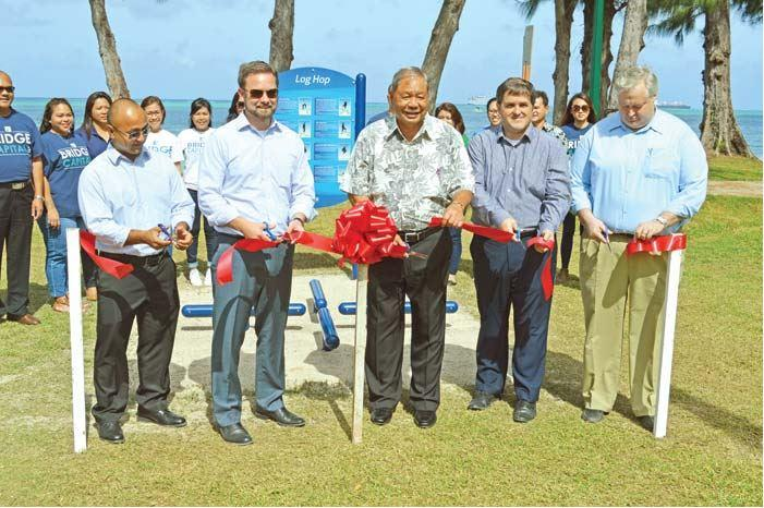 Bridge Capital CEO John K Baldwin leads donation and installation of fitness stations at Beach Road