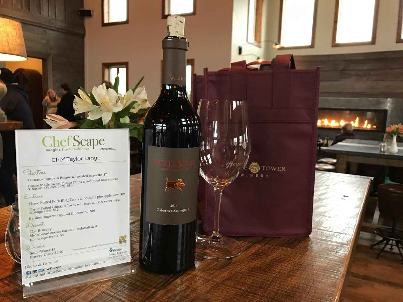 ChefScape® and MindSet Solutions Create a Mobile Pop-Up Restaurant at Stone Tower Winery