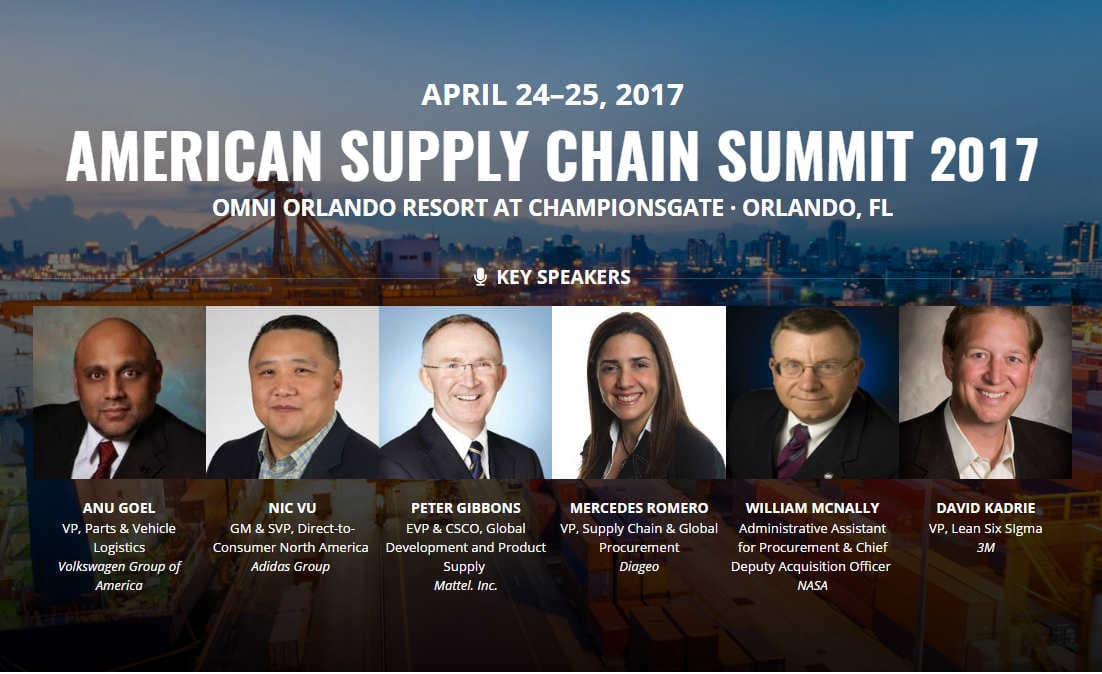 Senior Supply Chain Leaders Gather in Orlando on April 24th-25th