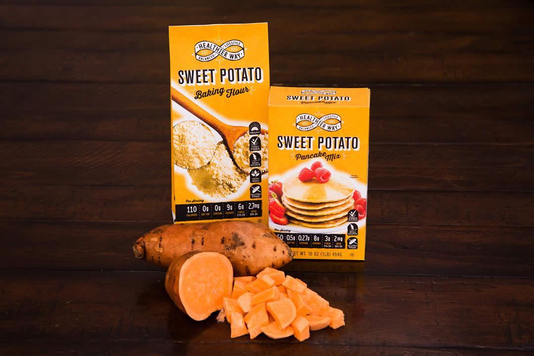 Healthier Way Launches Gluten Free Sweet Potato Flour And Pancake Mix