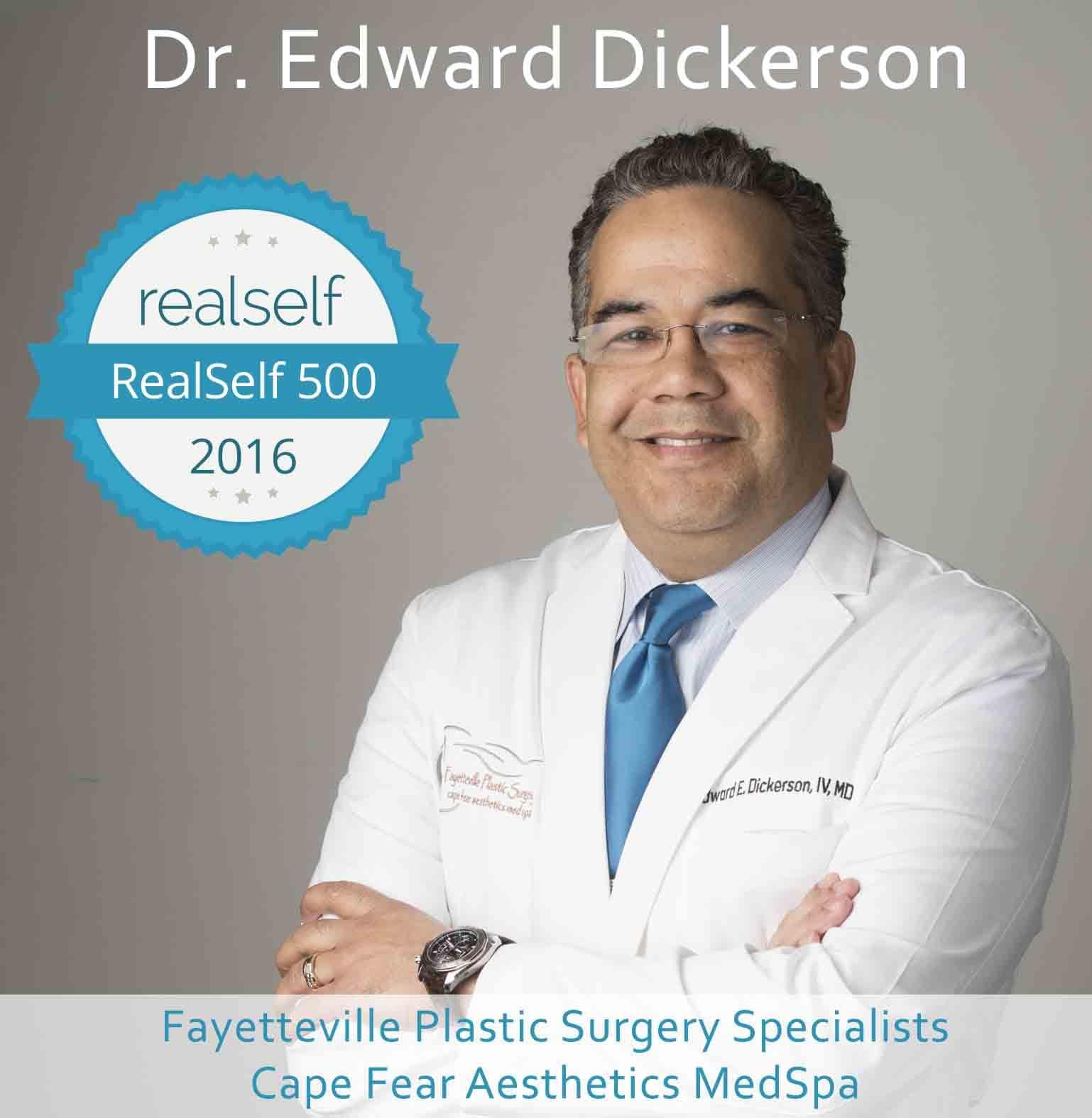Dr. Edward Dickerson Receives RealSelf 500 Award – Cape Fear Aesthetics MedSpa, North Carolina