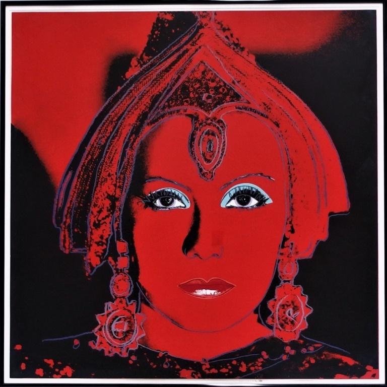 Screenprint of Greta Garbo as Mata Hari by Andy Warhol brings $52,000 at Bruneau & Co. Auctioneers