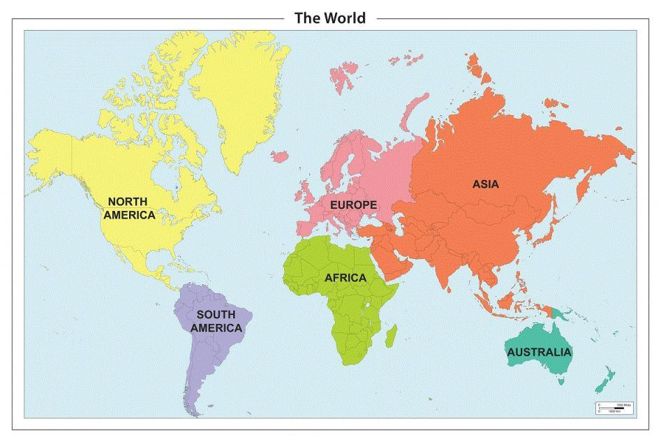 7 Continents On The Map  mybooklibraryCom