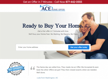 Ace Home Offer Launches New Website To Help Home Sellers