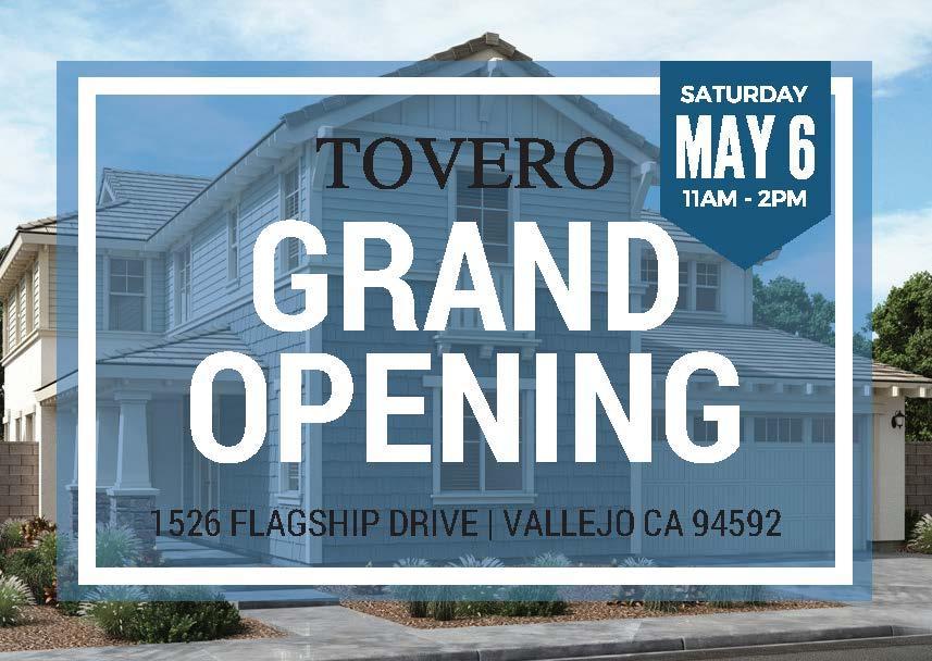 Tovero at Mare Island Grand Opens this Saturday, May 6