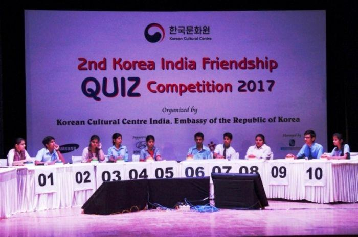 2nd Korea-India Friendship Quiz Competition 2017 organized by Korean Cultural Centre at New Delhi