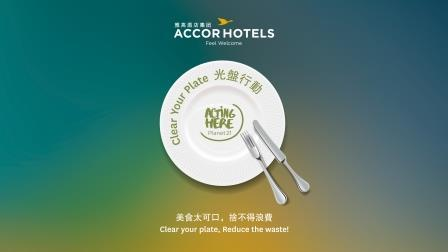AccorHotels launches Clear Your Plate campaign in Greater China