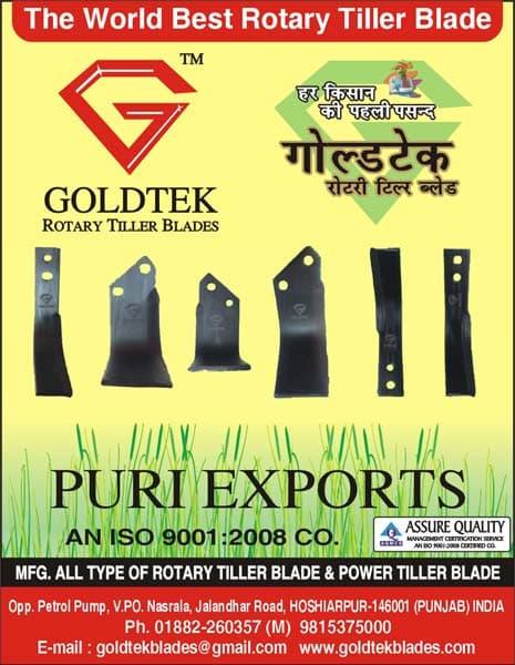 Goldtek is the best manufacturer of Rotary Tiller Blades