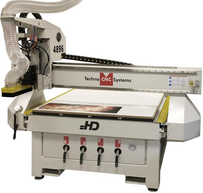 Newly Designed CNC Router Digital Cutting System features Optical Registration and Oscillating Knife