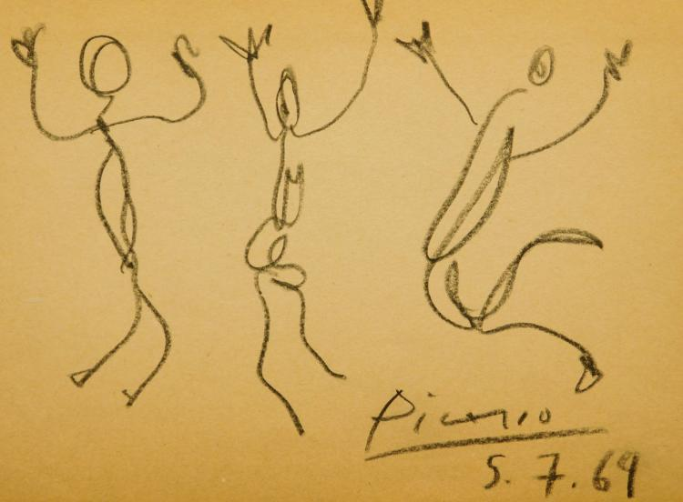 Drawings attributed to Picasso, Warhol, Lichtenstein, Man Ray, others will be auctioned online May 24th