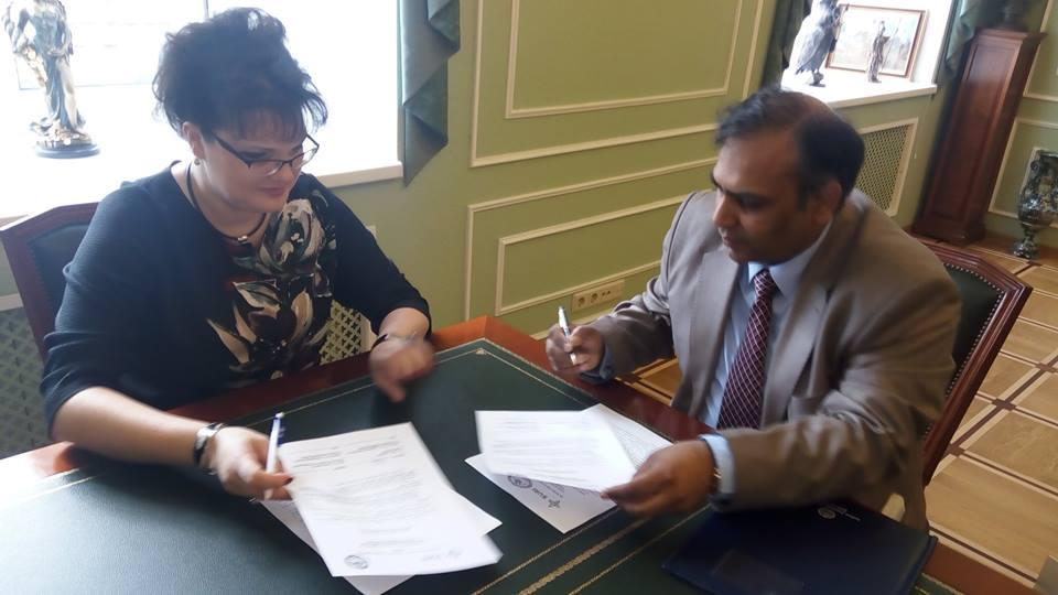 Indian Institute of Finance (IIF) signs MOU with RUSSIA's State University for Aerospace Instrumentation, (SUAI) Saint Petersburg, RUSSIA