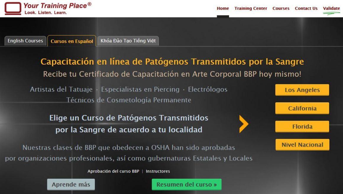Online Bloodborne Pathogens Classes now offered in Spanish