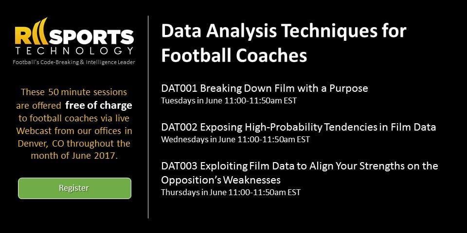 RII Sports Technology Helping Football Coaches More Effectively Exploit Their Biggest Competitive Advantage – Data