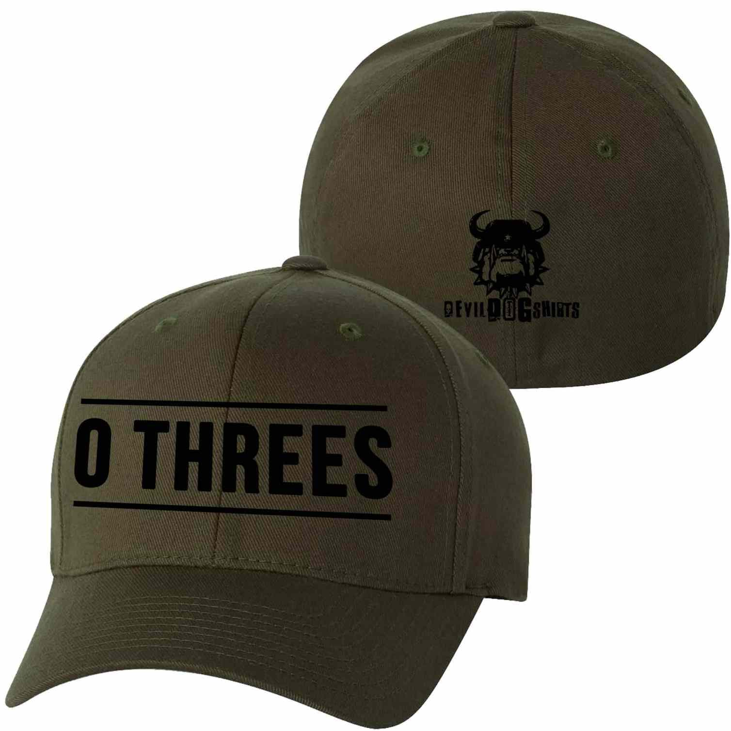 Black, Coyote, and Olive Drab USMC MOS Ball Caps