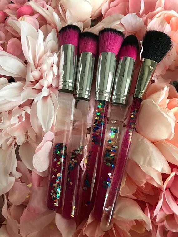 Magical Kaleidoscope Floating Glitter Makeup Brushes