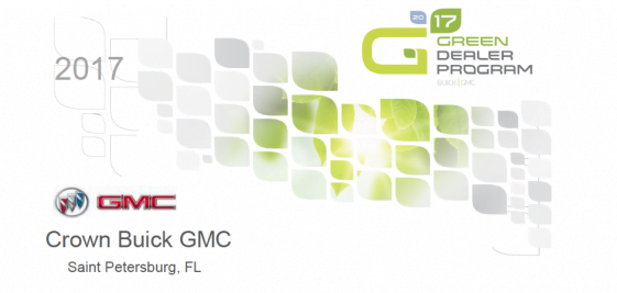 Crown Buick Gmc >> Crown Buick Gmc Receives Green Dealer Certification From