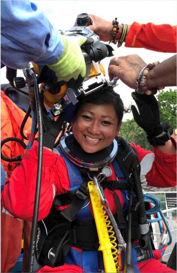 FIRST Female Inland/Inshore Commercial Diver in Singapore Certified Under ISO 29990:2010 Standard
