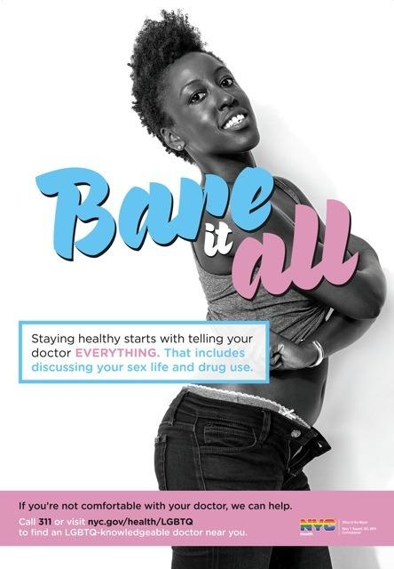 """Verneda Adele of HUMAN INTONATION Featured in NYC-DOHMH """"Bare It All"""" Ad Campaign for Sexual Health"""
