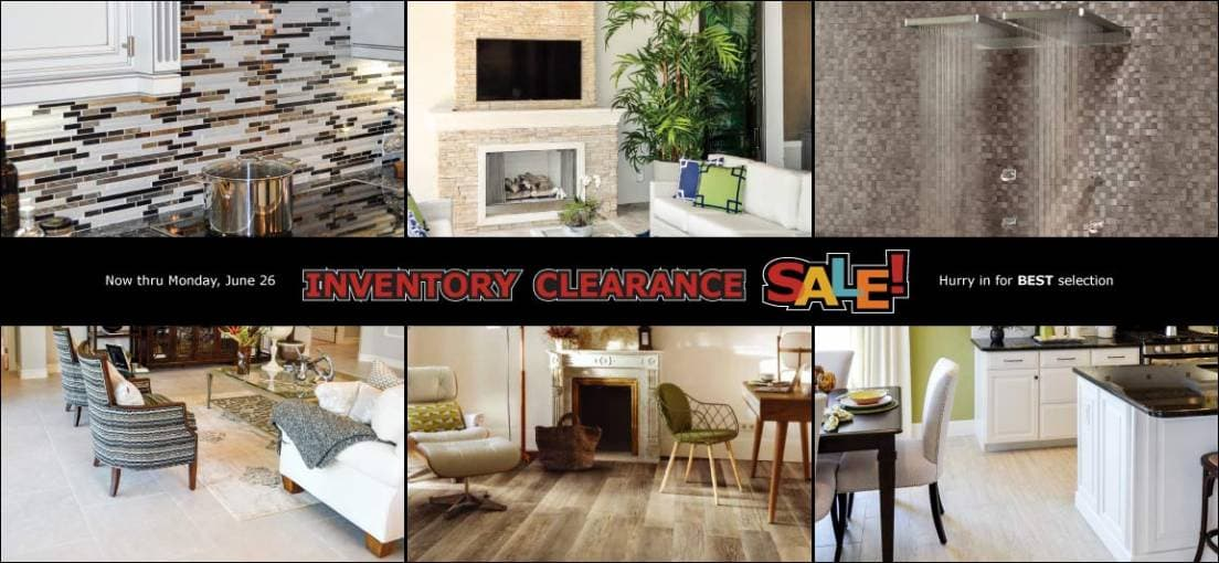 For Big Tile Savings, Shop Tile Outlets of America June 16-26, 2017 During Inventory Clearance Sale