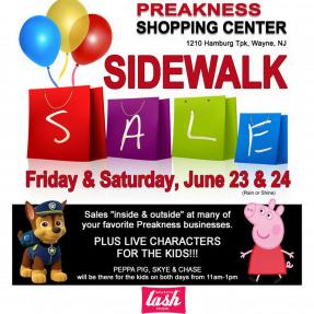 Enjoy The Preakness Shopping Center Sidewallk Sale at Amazing Lash Studio in Wayne